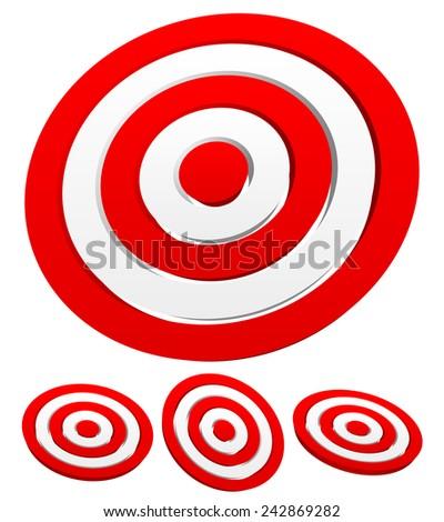 Set of 3d target graphics - stock vector