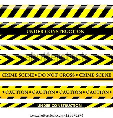Set of danger and police lines - stock vector