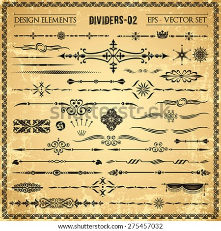 Set of decorative design elements and page decor