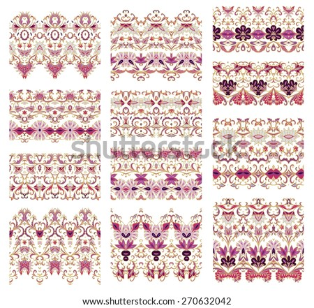 Set of decorative elements - flourish ribbons - stock vector