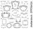 Set of decorative frame and design elements - stock vector