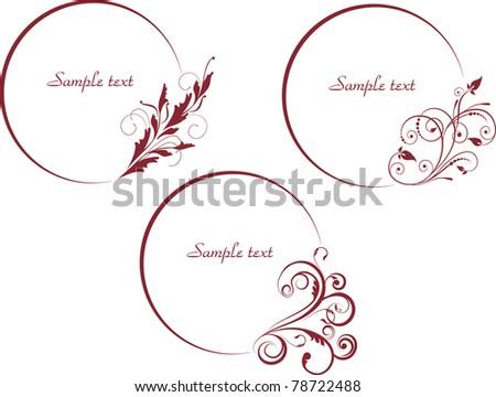 set of decorative frames for design - stock vector