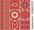 Set of decorative geometric seamless  patterns - stock vector