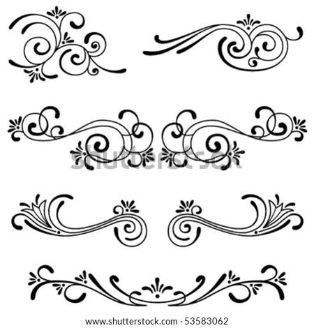 Set of decorative ornament - stock vector