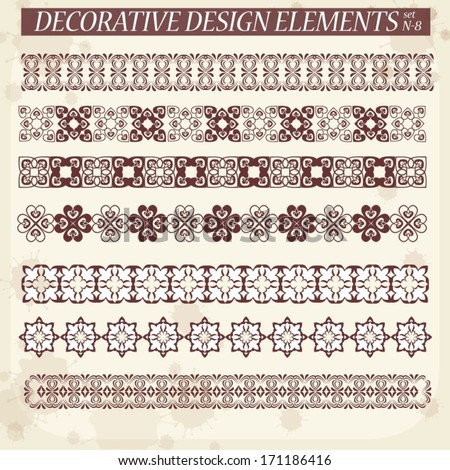 set of decorative ornaments