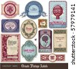 set of decorative vintage labels - stock vector