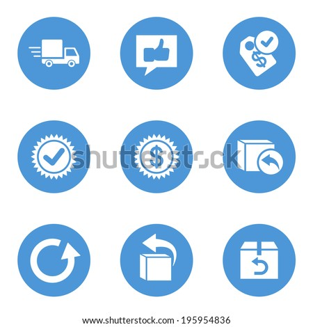 Set of delivery icons - stock vector