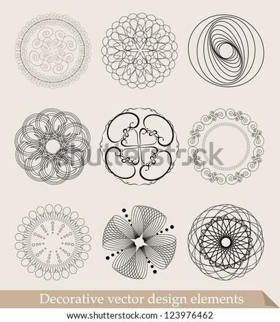 Set of design decorative elements - stock vector