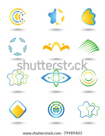 Set of design element - stock vector