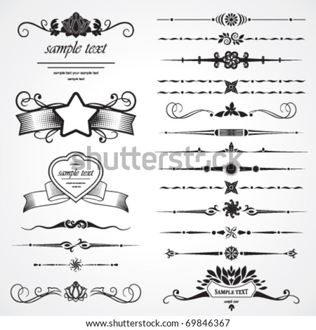 set of design elements - stock vector