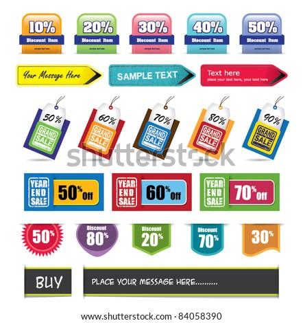 set of design elements - stock vector