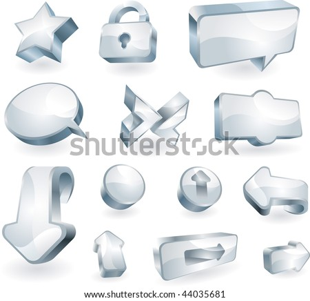 Set of design elements and icons - stock vector