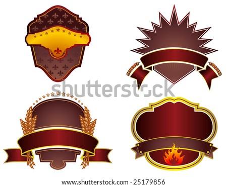 Set of design elements. Food label. Vector illustration. - stock vector