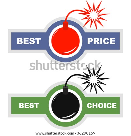 Set of design elements for sale. - stock vector