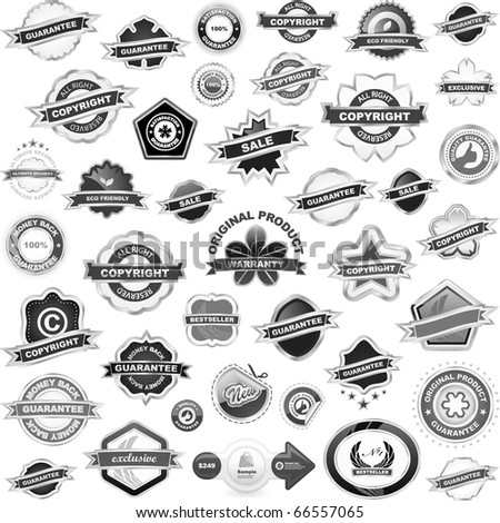 Set of design elements for sale. Great collection. - stock vector