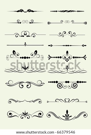 set of design elements in vintage style vectorized - stock vector