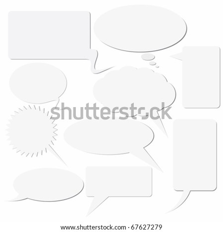 Set of dialog boxes on white background - stock vector