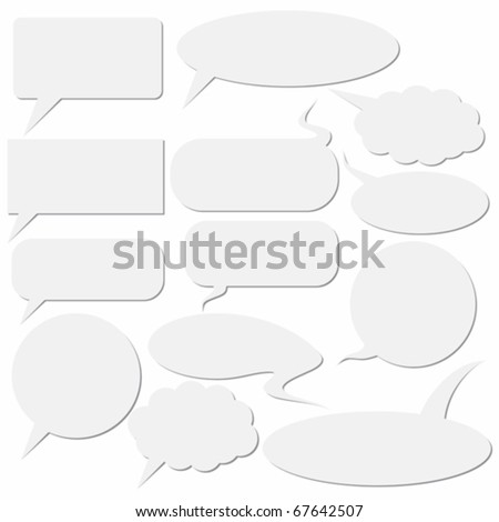 Set of dialog boxes on white background. - stock vector