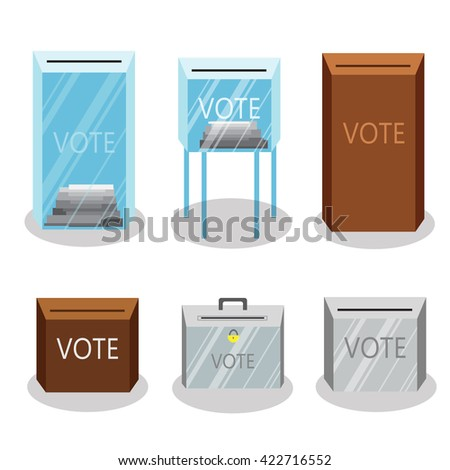 Set of different ballot boxes. Vector illustration - stock vector