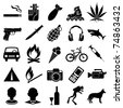 Set of different black vector symbols - stock vector