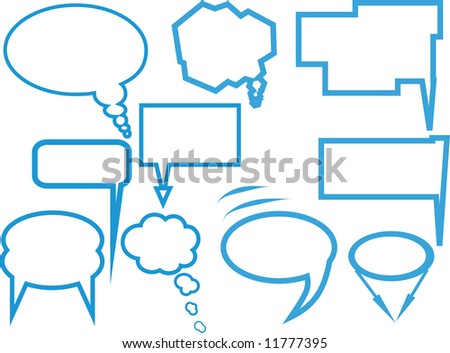 Set of different  dialog box, vector - stock vector