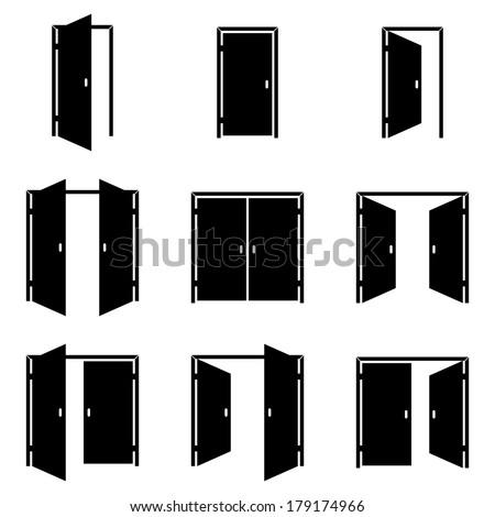 Set of different door icons  sc 1 st  Shutterstock & Door Icons Stock Images Royalty-Free Images \u0026 Vectors   Shutterstock