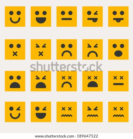 Set of different emoticons vector - stock vector