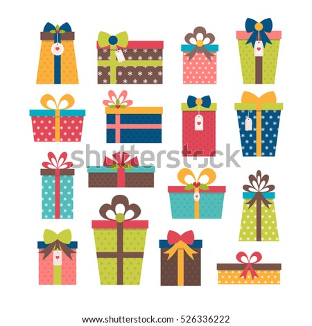 Set different gift boxes christmas presents stock vector 520693255 set of different gift boxes colorful wrapped gift boxes birthday surprise christmas presents negle Gallery