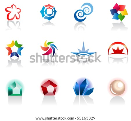 Set of different icons for your design (part 1). Please visit my gallery to see similar. - stock vector