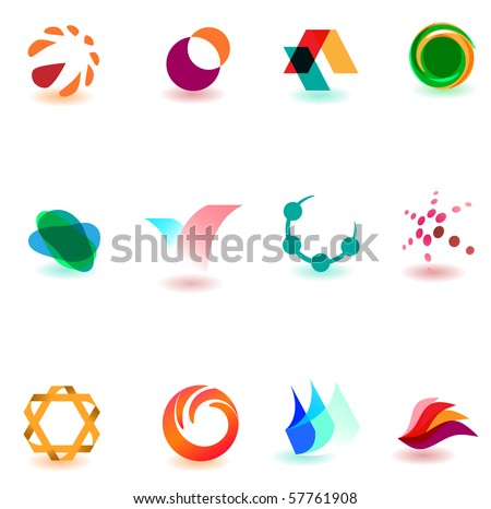 Set of different icons for your design (part 18). Please visit my gallery to see similar. - stock vector