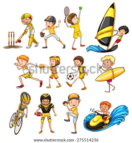 Set of different kinds of sports - stock vector