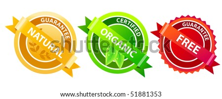 Set of different labels - stock vector