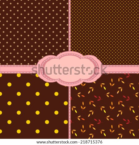 set of different pattern for scrapbooking. Vector, EPS 8 - stock vector