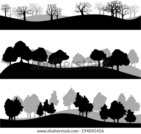 Forest Silhouette Stock Images, Royalty-Free Images ...