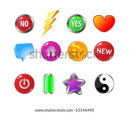 Set of different web icons - stock vector