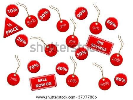 Set of discount labels - stock vector