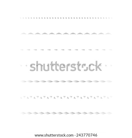 Set of dividers, isolated on white background. Vector illustration - stock vector