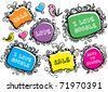 set of doodle frames - stock vector