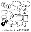 Set of doodle speech bubbles - stock vector