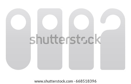 set of door hangers isolated on white background door hanger mockup vector