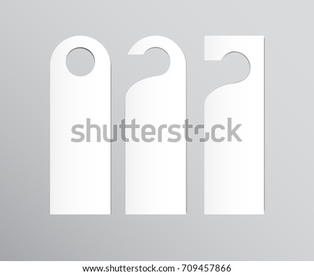 Two Side Black White Door Hanger Stock Vector 114032233 - Shutterstock