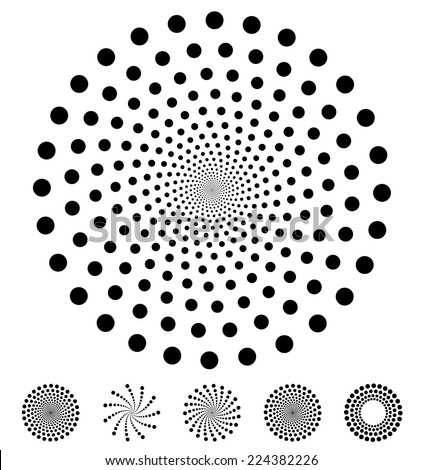 Set of dotted elements on white background - stock vector