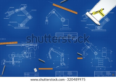 Set drawings mechanical robotic arms blueprint stock vector set drawings mechanical robotic arms blueprint stock vector 320489975 shutterstock malvernweather Images