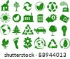 Set of eco icons - stock photo