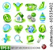 Set of eco icons. Vector - stock vector