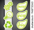 set of eco labels - stock photo