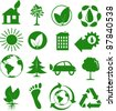 Set of ecological icons - stock photo