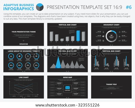 Set Editable Infographic Presentation Templates Graphs – Graphs and Charts Templates