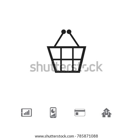 Set 5 Editable Statistic Icons Includes Stock Vector 785871088