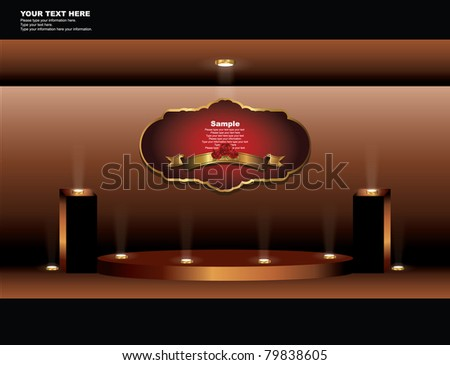 set of elegance event display collection - stock vector
